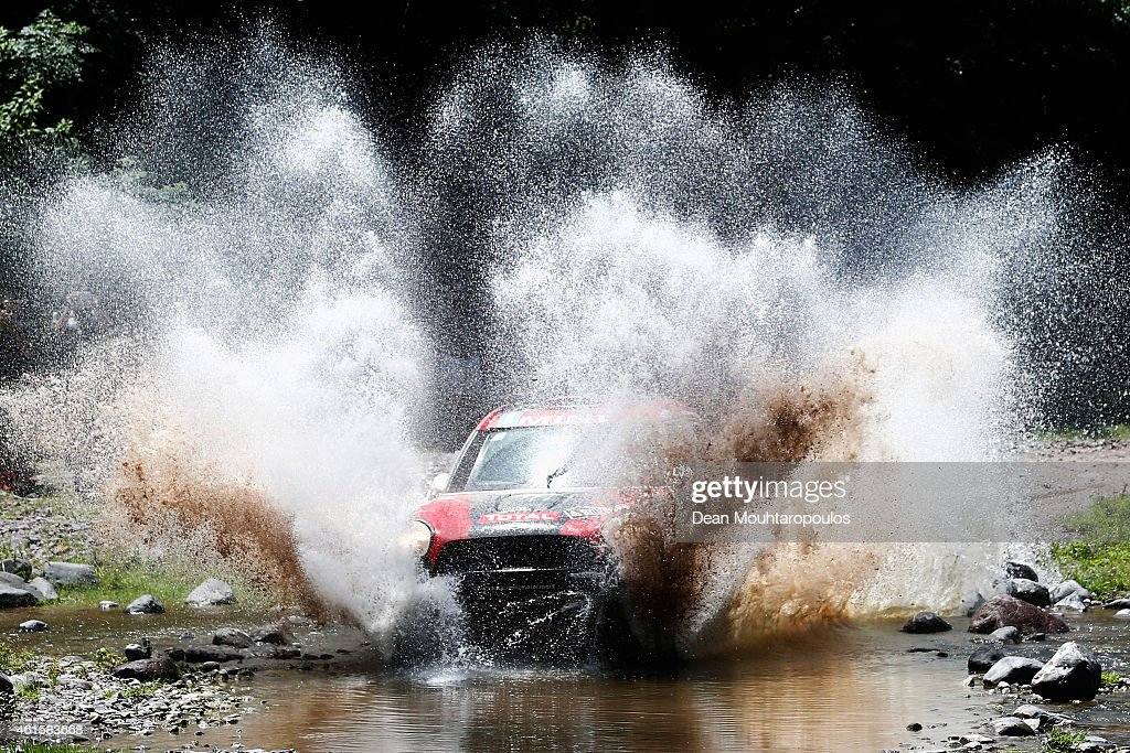 Orlando Orly Terranova and Ronnie Graue of Argentina driving for the ALL4 Racing Mini Monster Energy Rally Raid Team compete during Stage 11 on day 12 of the Dakar Rally between Salta and Termas de Rio Hondo on January 15, 2015 near San Miguel de Tucuman, Argentina.