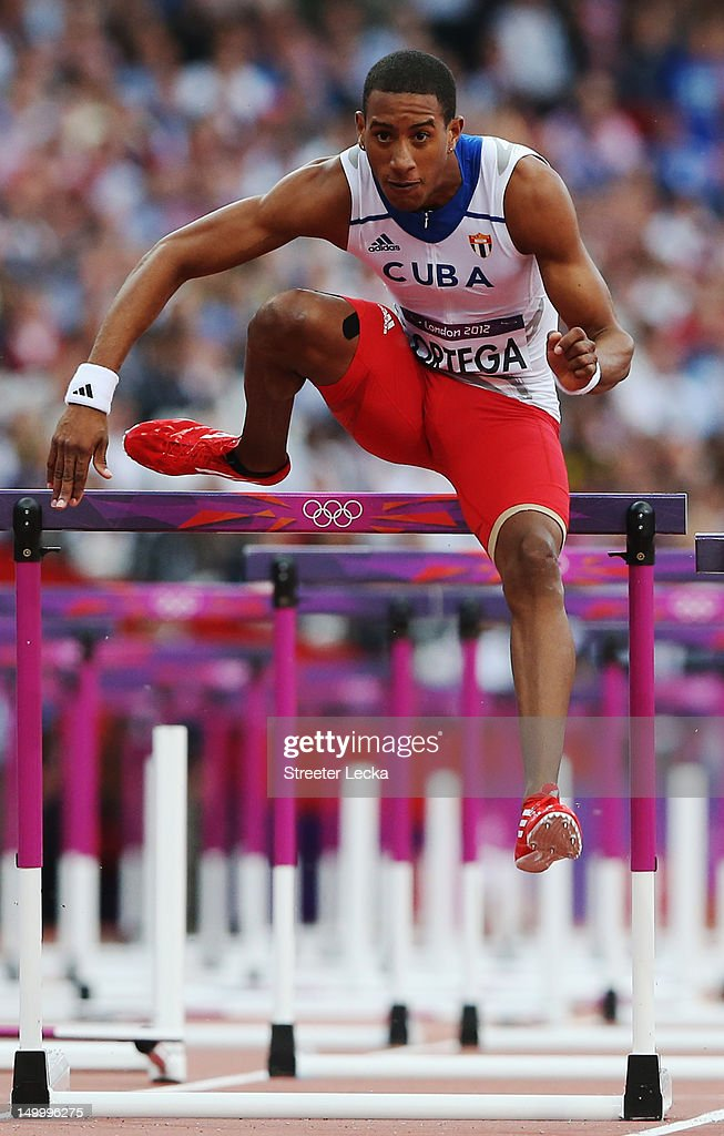 <a gi-track='captionPersonalityLinkClicked' href=/galleries/search?phrase=Orlando+Ortega&family=editorial&specificpeople=7863118 ng-click='$event.stopPropagation()'>Orlando Ortega</a> of Cuba competes in the Men's 110m Hurdles Semifinals on Day 12 of the London 2012 Olympic Games at Olympic Stadium on August 8, 2012 in London, England.