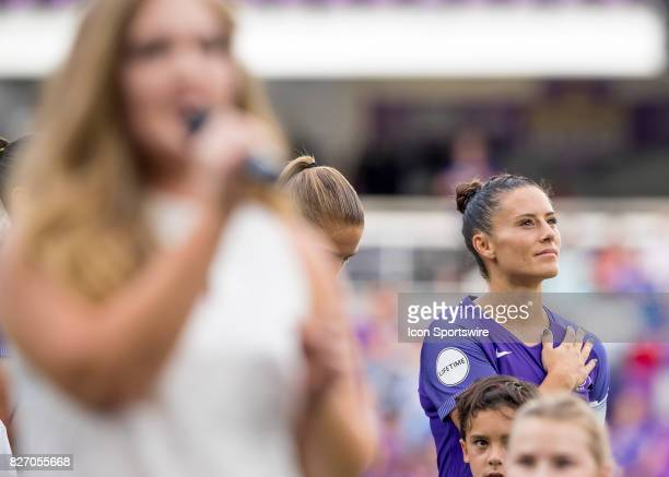 Orlando Pride defender Ali Krieger during the NWSL soccer match between the Orlando Pride and the Chicago Red Stars on August 5th 2017 at Orlando...