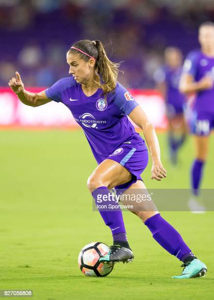 Orlando Pride forward Alex Morgan during the NWSL soccer match between the Orlando Pride and the Chicago Red Stars on August 5th 2017 at Orlando City...