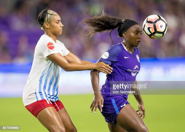 Orlando Pride forward Chioma Ubogagu during the NWSL soccer match between the Orlando Pride and the Chicago Red Stars on August 5th 2017 at Orlando...