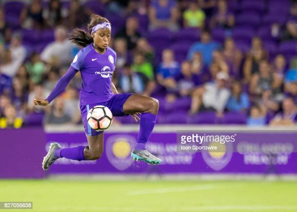 Orlando Pride forward Chioma Ubogagu receive a pass during the NWSL soccer match between the Orlando Pride and the Chicago Red Stars on August 5th...