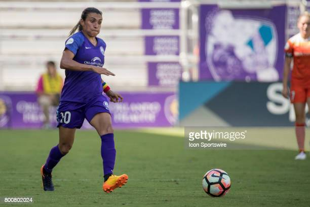 Orlando Pride forward Marta during the NWSL soccer match between the Houston Dash and Orlando Pride on June 24 2017 at Orlando City Stadium in...