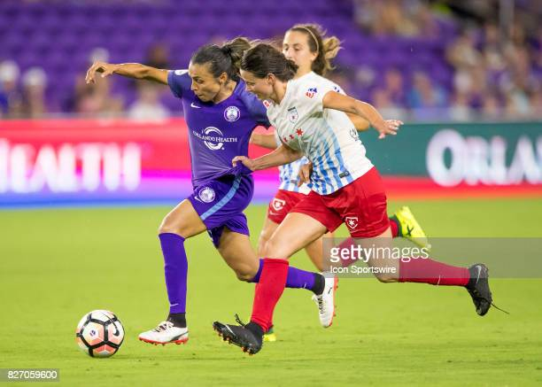 Orlando Pride forward Marta Vieira da Silva during the NWSL soccer match between the Orlando Pride and the Chicago Red Stars on August 5th 2017 at...