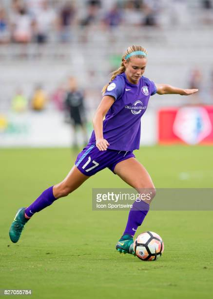 Orlando Pride midfielder Danielle Weatherholt passes the ball during the NWSL soccer match between the Orlando Pride and the Chicago Red Stars on...