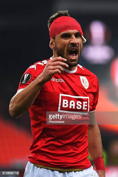 Orlando Sa forward of Standard Liege during the Europa League group G math between Standard Liege and Panathinaikos on October 20 2016 in Liege...