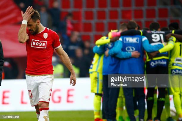 Orlando Sa forward of Standard Liege during the Jupiler Pro League match between Standard de Liege and Kaa Gent on in Sclessin Belgium