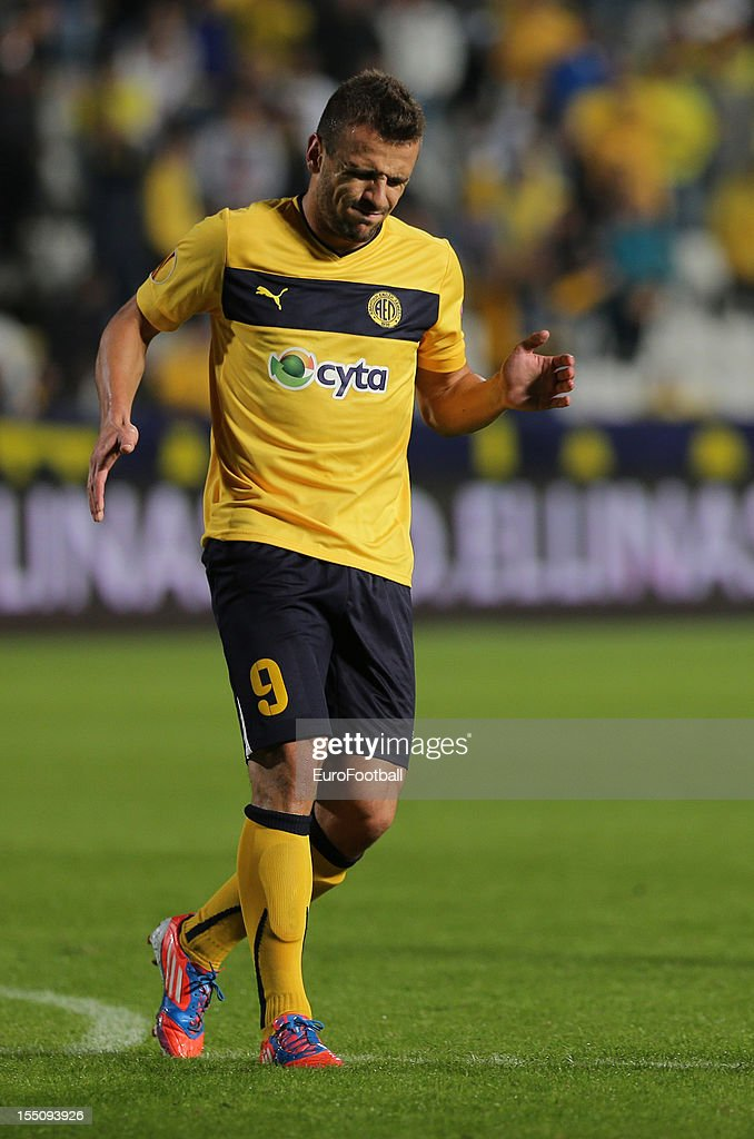 Orlando Sa of AEL Limassol FC in action during the UEFA Europa League group stage match between AEL Limassol FC and Fenerbahce SK held on October 25, 2012 at the GSP Stadium, in Nicosia, Cyprus.