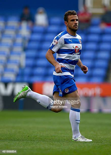 Orlando Sa of Reading during the Sky Bet Championship match between Reading and Middlesbrough at Madejski Stadium on October 3 2015 in Reading England