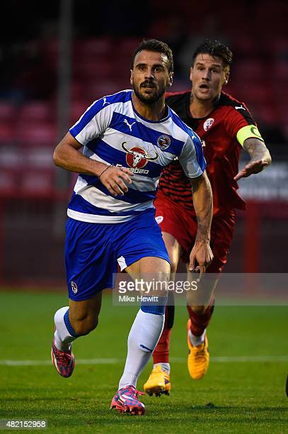 Orlando Sa of Reading in action during a Pre Season Friendly between Crawley Town and Reading at Checkatradecom Stadium on July 27 2015 in Crawley...
