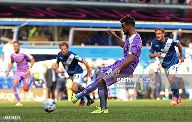 Orlando Sa of Reading misses a last minute penalty during the Sky Bet Championship match between Birmingham City and Reading at St Andrews Stadium on...