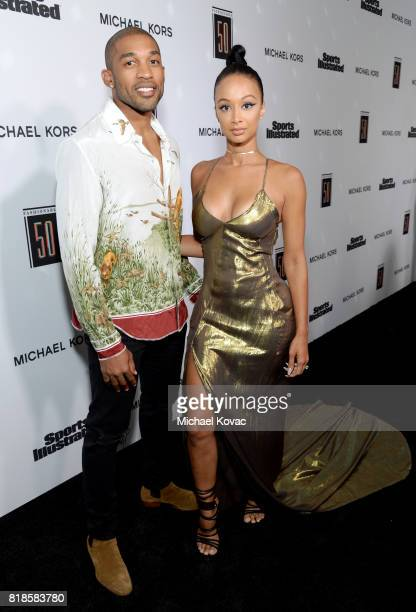 Orlando Scandrick and Draya Michele at Sports Illustrated 2017 Fashionable 50 Celebration at Avenue on July 18 2017 in Los Angeles California