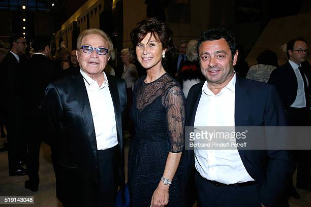 Orlando Sylvie Rousseau and Charles Zana attend the 'Societe des Amis du Musee D'Orsay' Dinner and Private tour of the Exhibition 'Le Douanier...