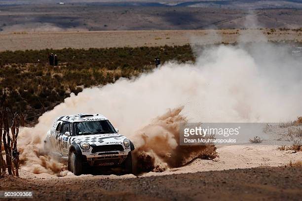 Orlando Terranova of Argentina and Bernardo Graue of Argentina in the MINI ALL4 RACING for AXION XRAID TEAM compets on day 5 from Jujuy in Argentina...