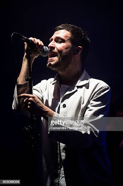 Orlando Weeks of the band The Maccabees performs at Falls Festival on January 1 2016 in Byron Bay Australia