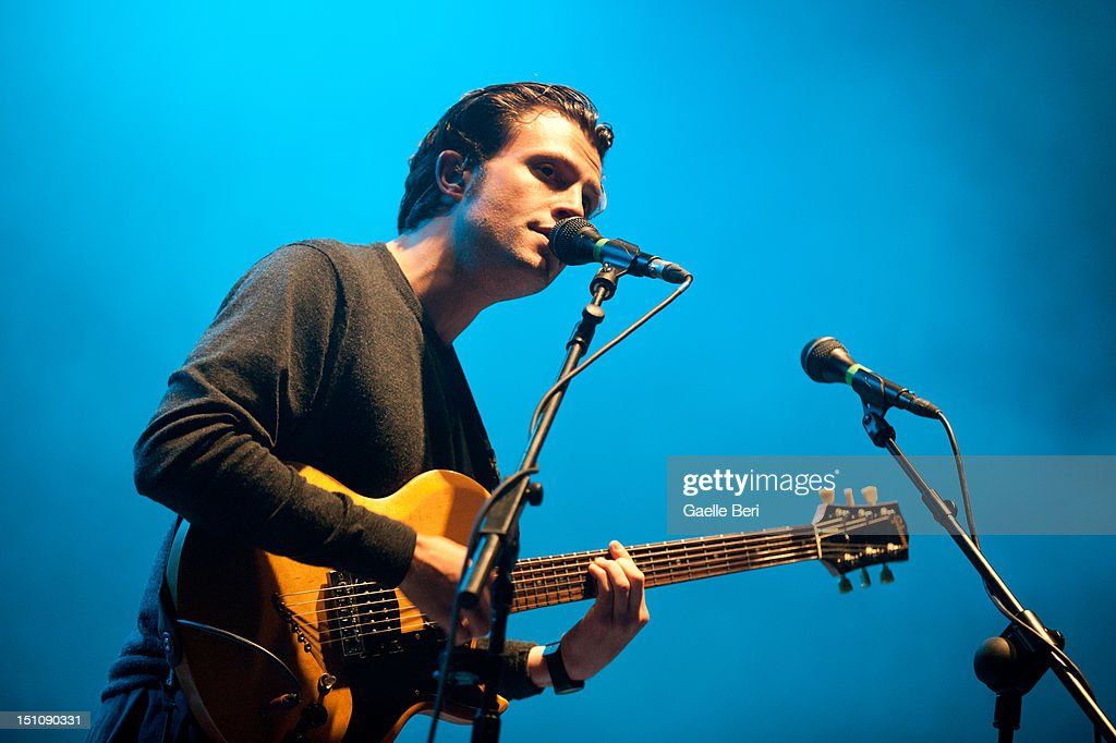 Orlando Weeks of The Maccabees performs on stage during Electric Picnic on August 31, 2012 in Stradbally, Ireland.