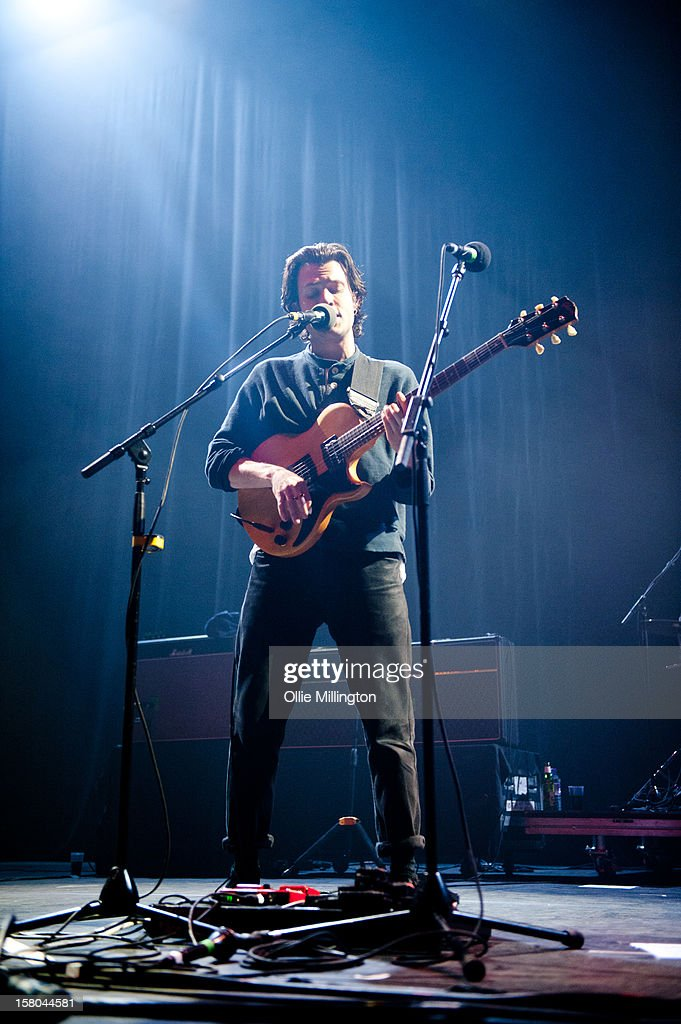 Orlando Weeks of The Maccabees performs onstage supporting The Black Keys on their 2012 winter European Arena tour at NIA Arena on December 9, 2012 in Birmingham, England.