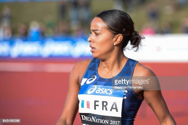 Orlann Ombissa Dzangue of France competes in 100m during the DecaNation 2017 on September 9 2017 in Angers France
