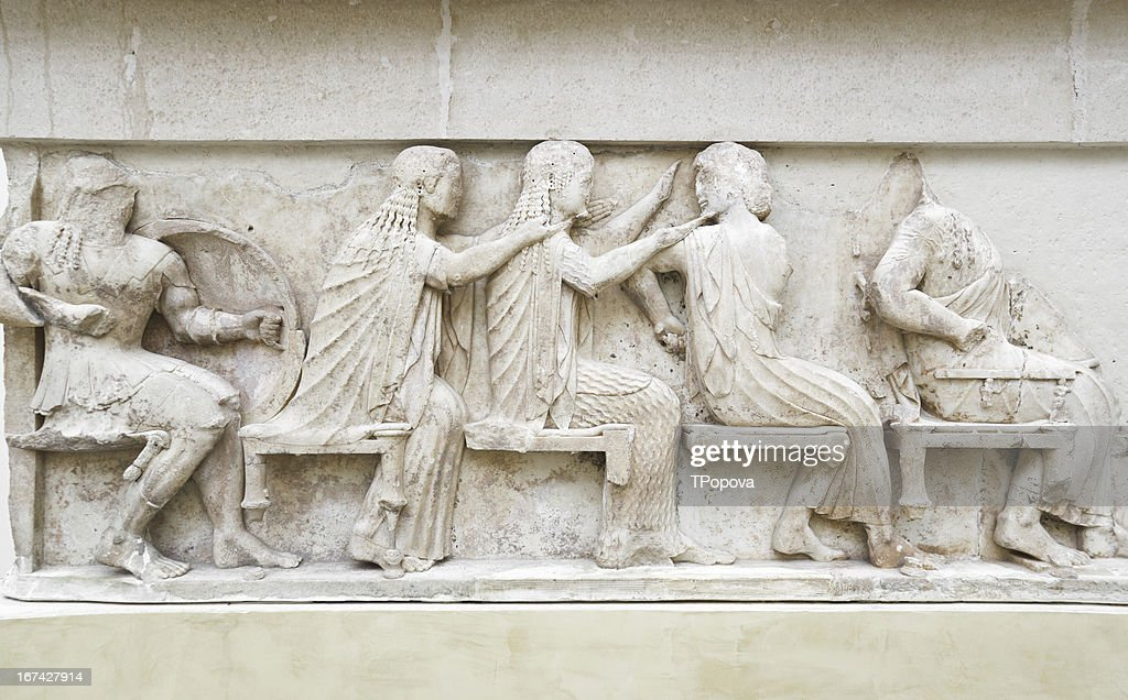 Ornament in Delphi museum, Greece : Stock Photo