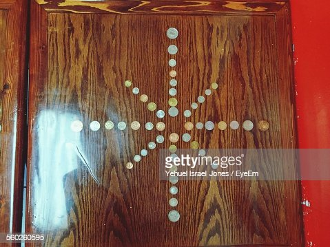 Ornament On Lacquered Door