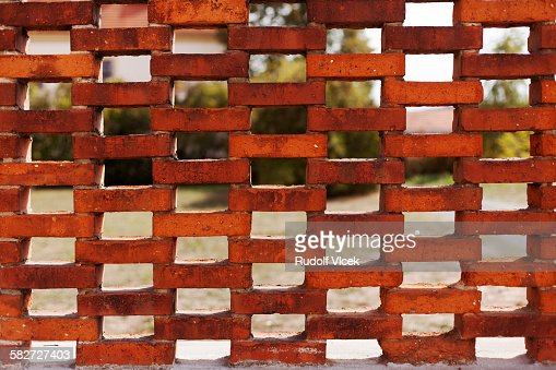 Ornamental Brick Wall With Holes Stock Photo Getty Images