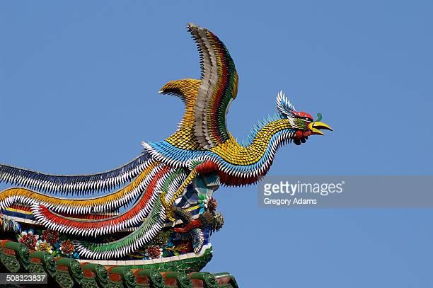 Ornamental Figure atop a Buddhist Temple in Taipei