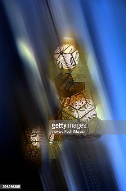 Ornamental, octagonal prisms