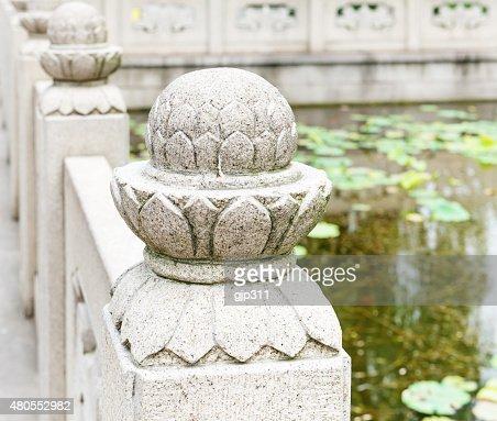 Pedra ornamental de vedação : Foto de stock