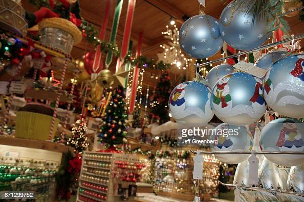 ornaments for sale at bronners christmas wonderland pictures getty images