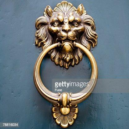 Ornate Brass Door Knocker