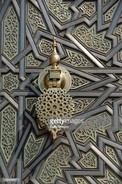 Ornate brass palace door detail, Royal Palace, Casablanca, Morocco