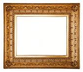 Ornate carved gilded picture frame.