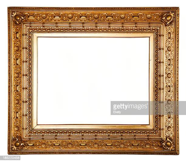 Ornate carved gilded picture frame.
