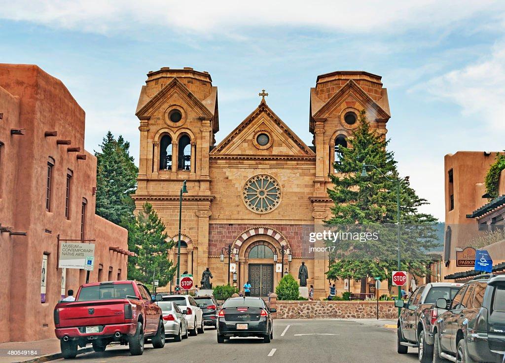 Halicampus Catedral de Santa Fe Novo México : Foto de stock