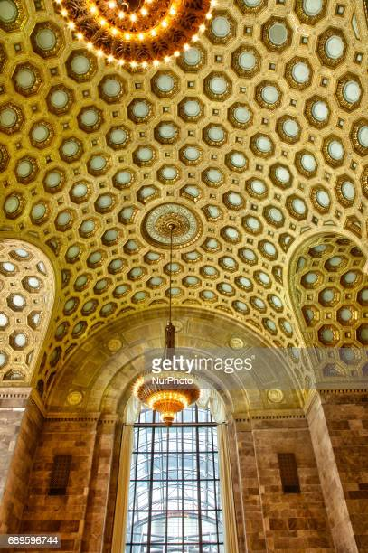 Ornate coffered ceiling in the Commerce Court Building in downtown Toronto Canada The Commerce Court Building was built in 1929 and is a complex of...