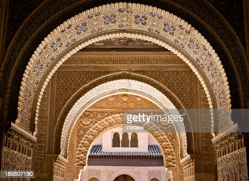 Alhambra spain stock photos and pictures getty images for Alhambra decoration