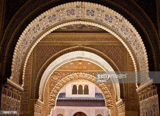 Ornate decoration at Albambra Palace in Granada, Spain