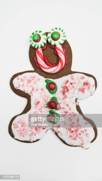 Ornate gingerbread man cookie