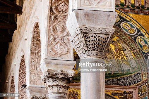Ornate mosaic dome in Basilica of Euphrasius, Porec, Istria, Croatia