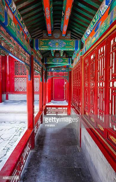 Ornate Narrow Passage in Forbidden City, Beijing, China