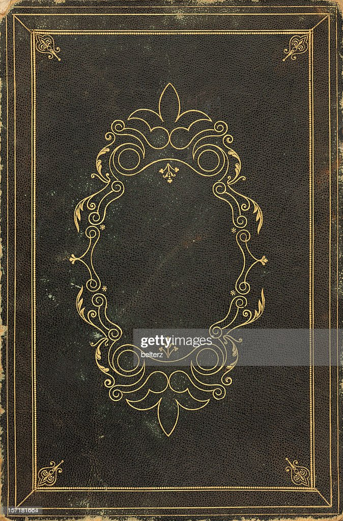 Book Cover Stock Art : Ornate old book cover stock photo getty images