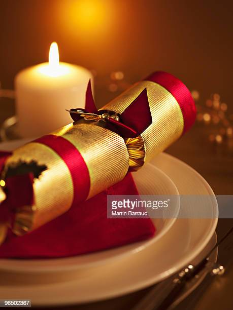 Ornate placesetting and candle