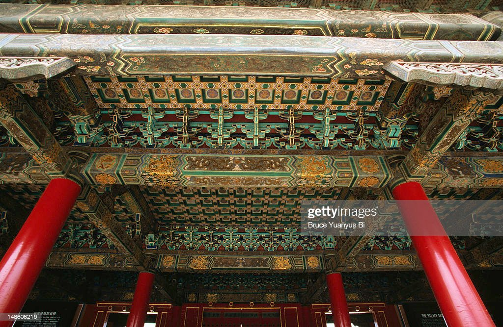 Ornate roof decoration, Forbidden City.