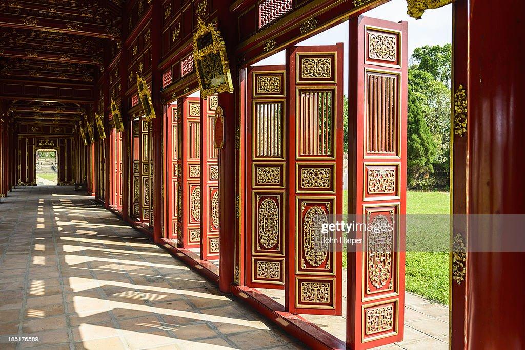 Ornate Shutters,  Imperial Citadel of Hue, Vietnam