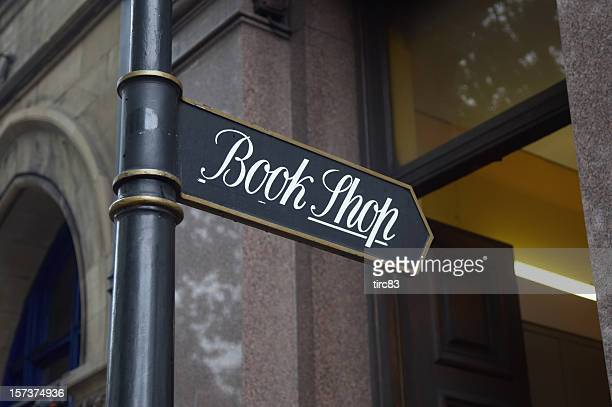 Ornate sign for book shop