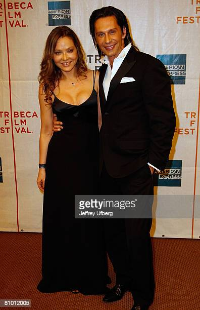 Ornella Muti and Fabrice Kerherve attend the Premiere of 'Toby Dammit' at the 7th Annual Tribeca Film Festival on April 28 2008 in New York City