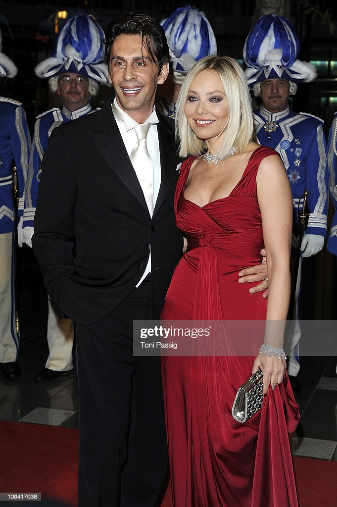 Ornella Muti and Fabrice Kerherve attend the UNESCO Charity-Gala 2010 at Maritim Hotel on October 30, 2010 in Duesseldorf, Germany.