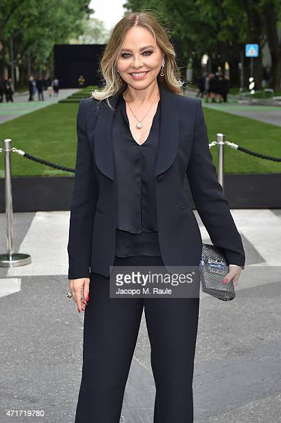 Ornella Muti attends the Giorgio Armani 40th Anniversary Silos Opening And Cocktail Reception on April 30 2015 in Milan Italy