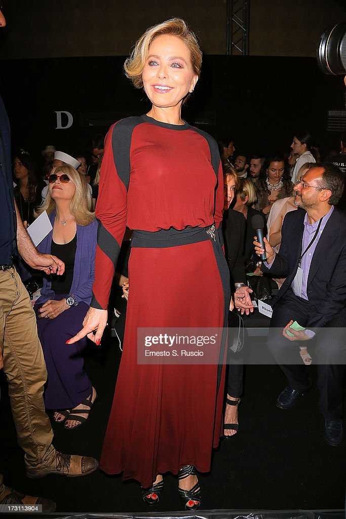 Ornella Muti attends the Jean Paul Gaultier Couture fashion show as part of AltaRoma AltaModa Fashion Week Autumn/Winter 2013 on July 7, 2013 in Rome, Italy.