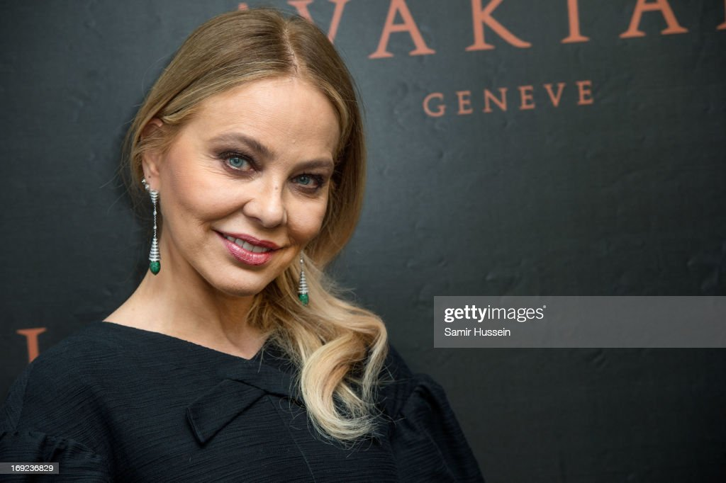 Ornella Muti visits the Avakian suite wearing Avakian jewellery during the 66th Cannes Film Festival on May 22, 2013 in Cannes, France.